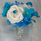 Turquoise Flower Girl Wrist Corsage