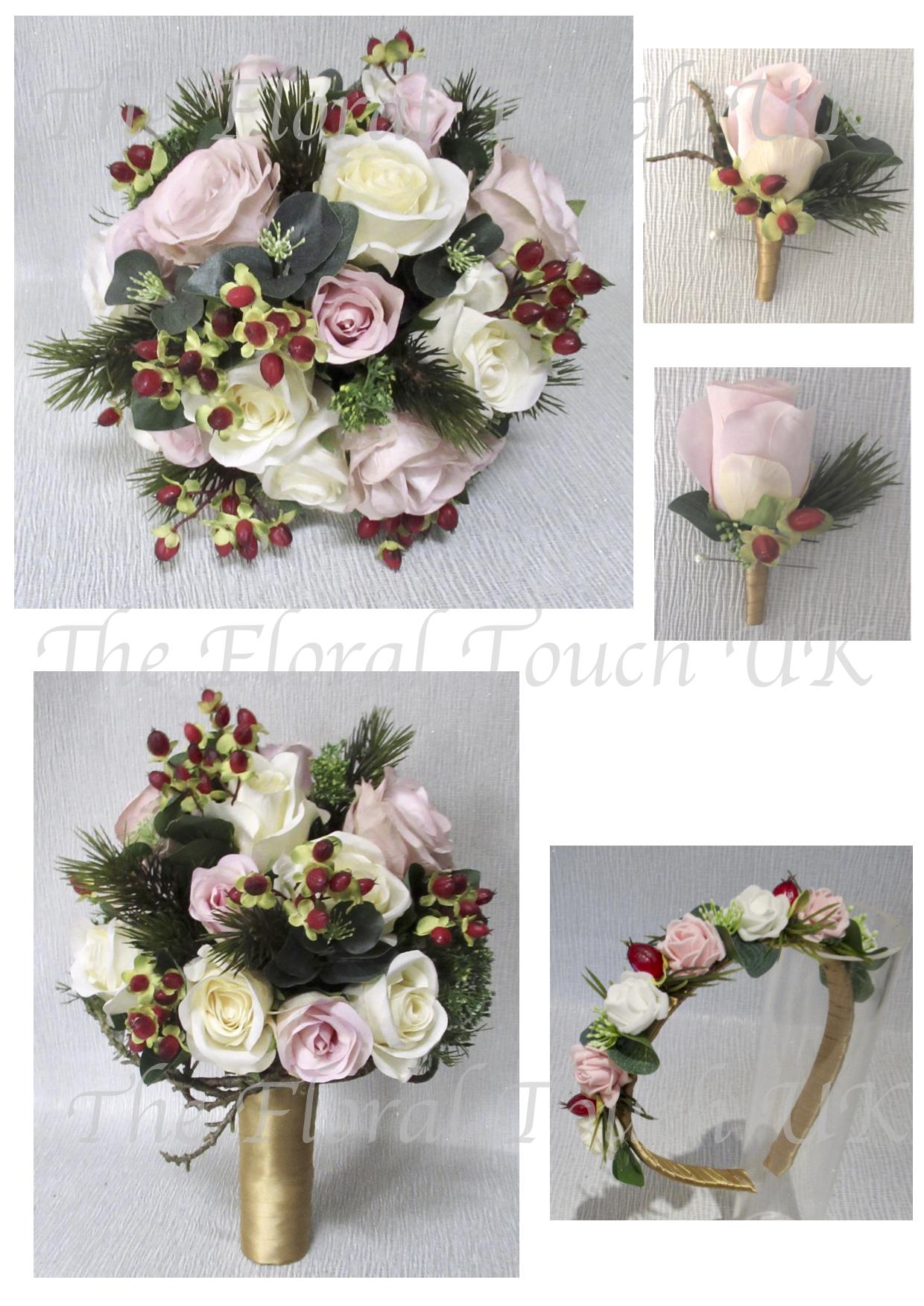 Christmas Winter Wedding Bouquets