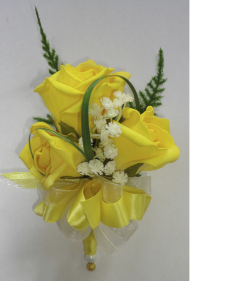 Yellow Rose & Gypsophila Corsage